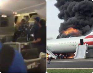 Σκηνές πανικού! Βίντεο μέσα από το φλεγόμενο αεροσκάφος στο Σικάγο!