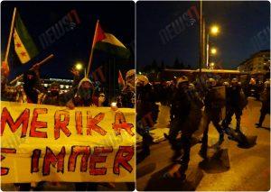 """Πολυτεχνείο Live: """"Κράξιμο"""" στο μπλοκ του ΣΥΡΙΖΑ έξω από την αμερικανική πρεσβεία"""