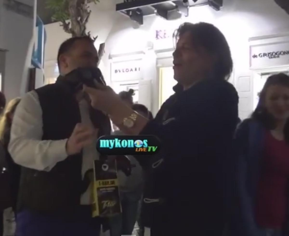 Μύκονος: Η έκπληξη που έκανε τον Ηλία Ψινάκη να χαμογελάσει – Το καπέλο και η συνάντηση με τον Ανδρέα Φουστάνο (Βίντεο)!