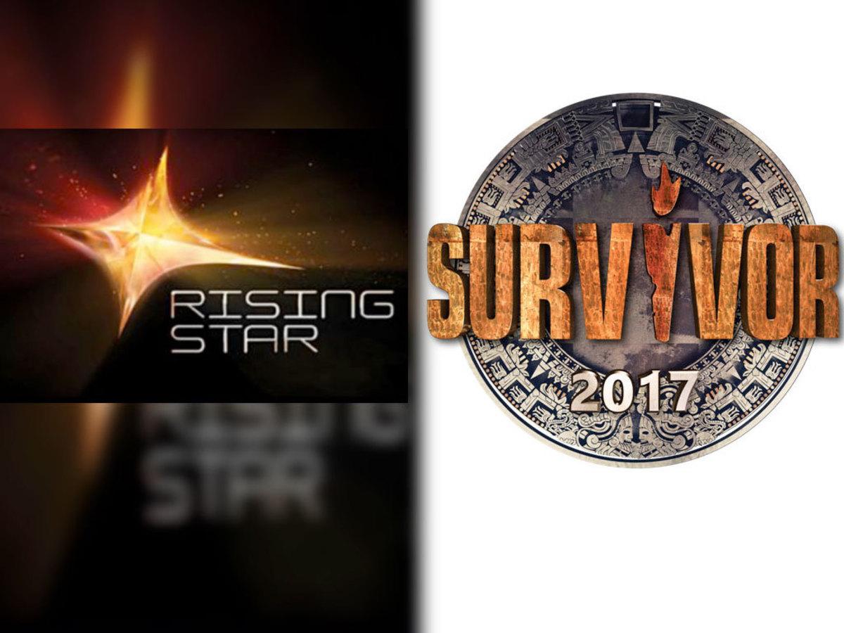 «Rising Star» εναντίον «Survivor»: ποιο κέρδισε τους τηλεθεατές