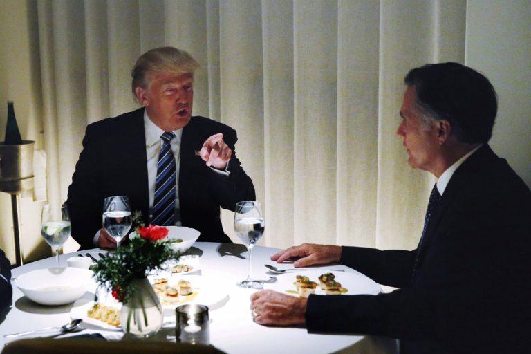 """""""Ερωτικός"""" ο Ρόμνεϊ μετά το δείπνο με Τραμπ – Η Goldman Sachs παίρνει υπουργείο!"""