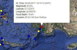 Σεισμός τώρα στη Ρόδο
