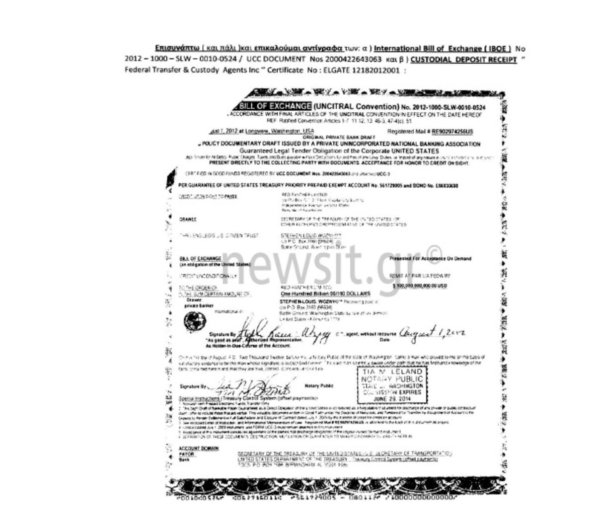 Αμερικανικό ΥΠΟΙΚ: Πλαστά τα ομόλογα Σώρρα – Έγγραφο ντοκουμέντο
