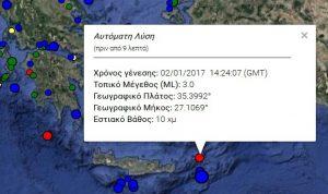 Σεισμός κοντά σε Κάσο και Κάρπαθο