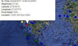 Σεισμός ανάμεσα σε Κυλλήνη και Ζάκυνθο