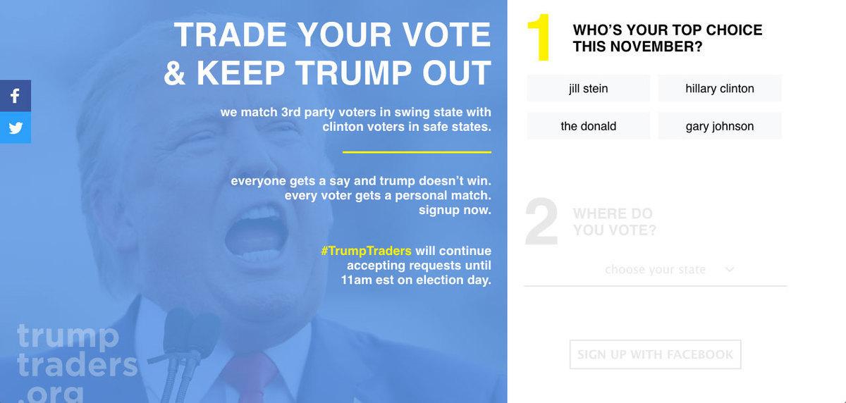 """ΗΠΑ – Εκλογές: Έχω Τραμπ, έχεις Χίλαρι; """"Σύννεφο"""" η ανταλλαγή ψήφων"""