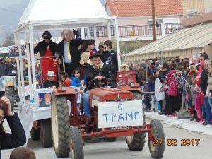 """Ο """"Τραμπ"""" πάνω σε τρακτέρ στην Ξάνθη λόγω της ημέρας [pics]"""