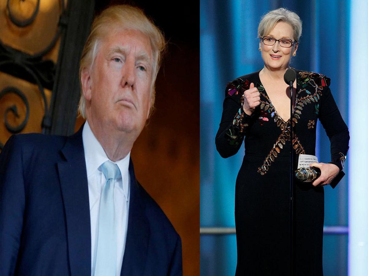 """Ο Τραμπ """"κράζει"""" τη Μέριλ Στριπ! """"Είναι θαυμάστρια της Χίλαρι…"""" [vids]"""