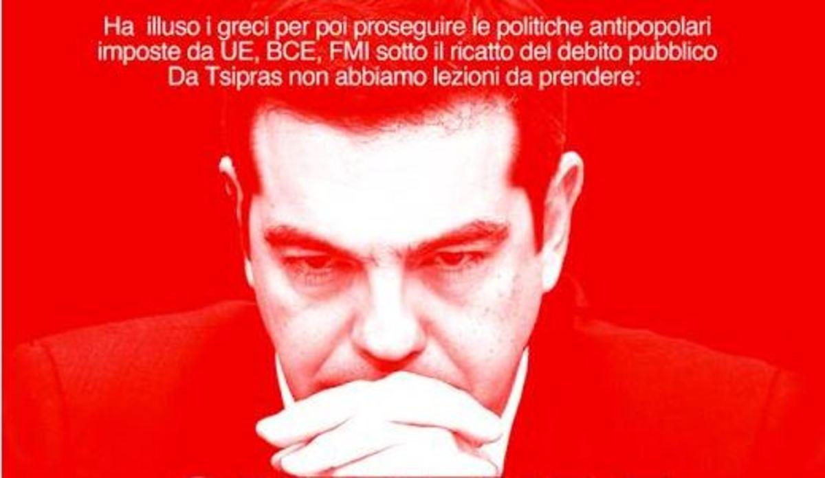 Ανεπιθύμητος στην Ιταλία ο Τσίπρας! Έβγαλαν μέχρι και αφίσα εναντίον του [pic]