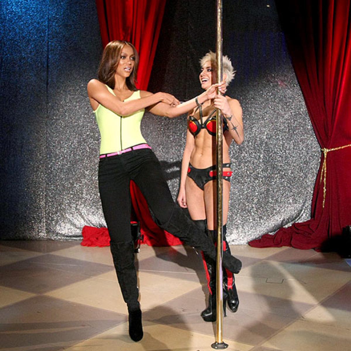 Η παρουσιάστρια Tyra Banks σε ώρα εργασίας