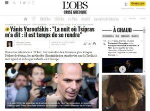 """Βαρουφάκης: """"Ο Τσίπρας μου είπε: Είναι ώρα να παραδοθούμε"""""""