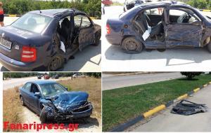 Πρέβεζα: Εκσφενδονίστηκε γυναίκα από αυτοκίνητο σε τροχαίο – Αγωνία για τη ζωή της [pic, vid]