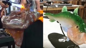 Καλλιτέχνης φτιάχνει απίστευτες δημιουργίες από γυαλί