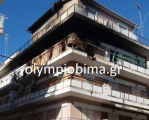Κατερίνη: Οι εικόνες της τραγωδίας – Νεκρός άντρας από φωτιά και έκρηξη στο διαμέρισμα που έμενε [pics, vid]