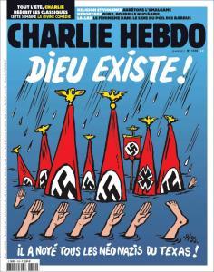 """Charlie Hebdo: Πέρα από κάθε όριο! """"Ο Θεός έπνιξε όλους τους ναζί του Τέξας"""""""