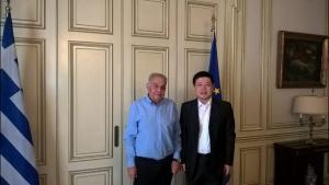 Συνάντηση Αλέκου Φλαμπουράρη με τον πρέσβη της Κίνας