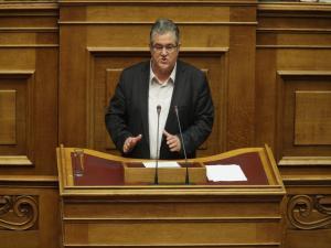 """Κουτσούμπας: """"Κάλπικη αντιπαράθεση ΣΥΡΙΖΑ-ΝΔ για να κρύψουν την στρατηγική τους συμπόρευση"""""""