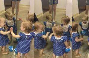 Μωρό μιλά στον καθρέφτη και με τους… τρεις εαυτούς του! [vid]