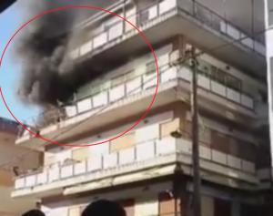 Κατερίνη: Το βίντεο ντοκουμέντο της τραγωδίας – Φωτιά και εκρήξεις με ένα νεκρό άντρα [pics, vid]