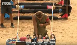 Survivor: Τραυματίστηκε άσχημα ο Αγγελόπουλος και ο μισθοφόρος κέρδισε την ασυλία [vids]