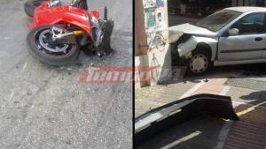 Τροχαίο στο κέντρο της Πάτρας – Ένας σοβαρά τραυματίας [pics]