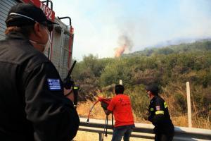 Κορινθία: Σε εξέλιξη η φωτιά στο Κούτσι Νεμέας – Μαίνεται για 3η μέρα – 120 πυροσβέστες στη μάχη!