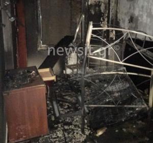 Φωτιά σε ξενοδοχείο στο Μεταξουργείο [pics]