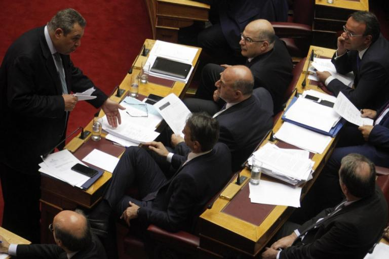Στη Βουλή η πρόταση της ΝΔ για Εξεταστική κατά Καμμένου