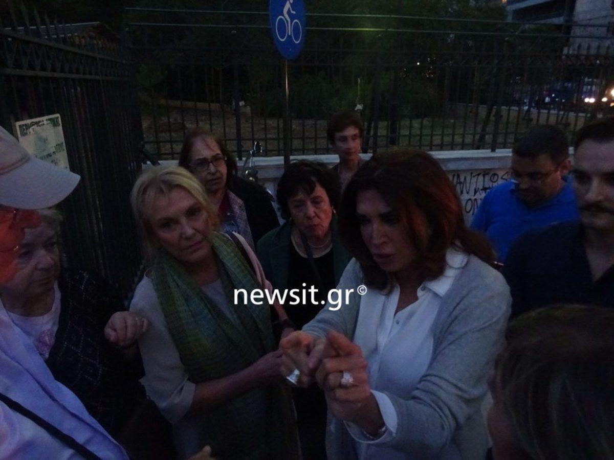 Μιμή Ντενίση και Φωτεινή Πιπιλή στη διαμαρτυρία για το Πεδίον του Άρεως [pics, vid]