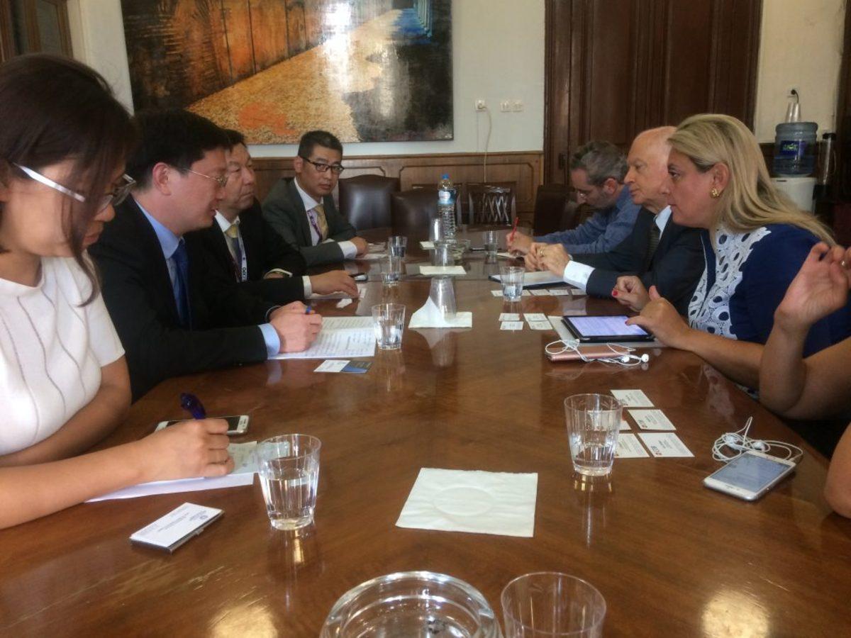 ΔΕΘ 2017: Συνάντηση Παπαδημητρίου με Κινέζους επενδυτές