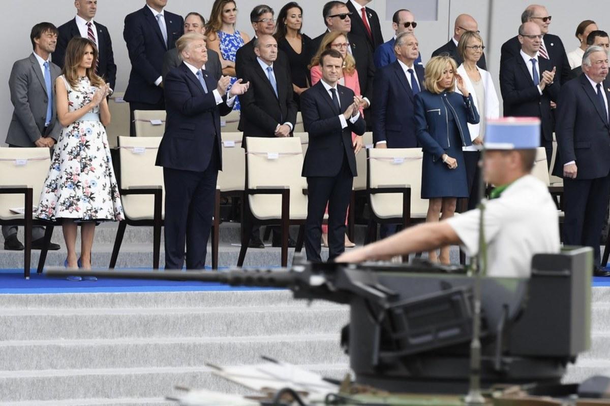 Ντόναλντ Τραμπ Εμανουελ Μακρόν παρέλαση Παρίσι