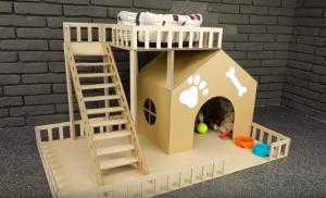 Πώς να φτιάξετε ένα σπιτάκι σκύλου από χαρτόκουτα