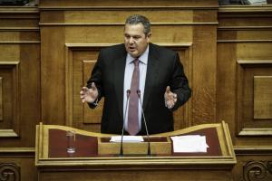 Καμμένος στη Βουλή: Δεν υπάρχει συμφωνία για τα F16