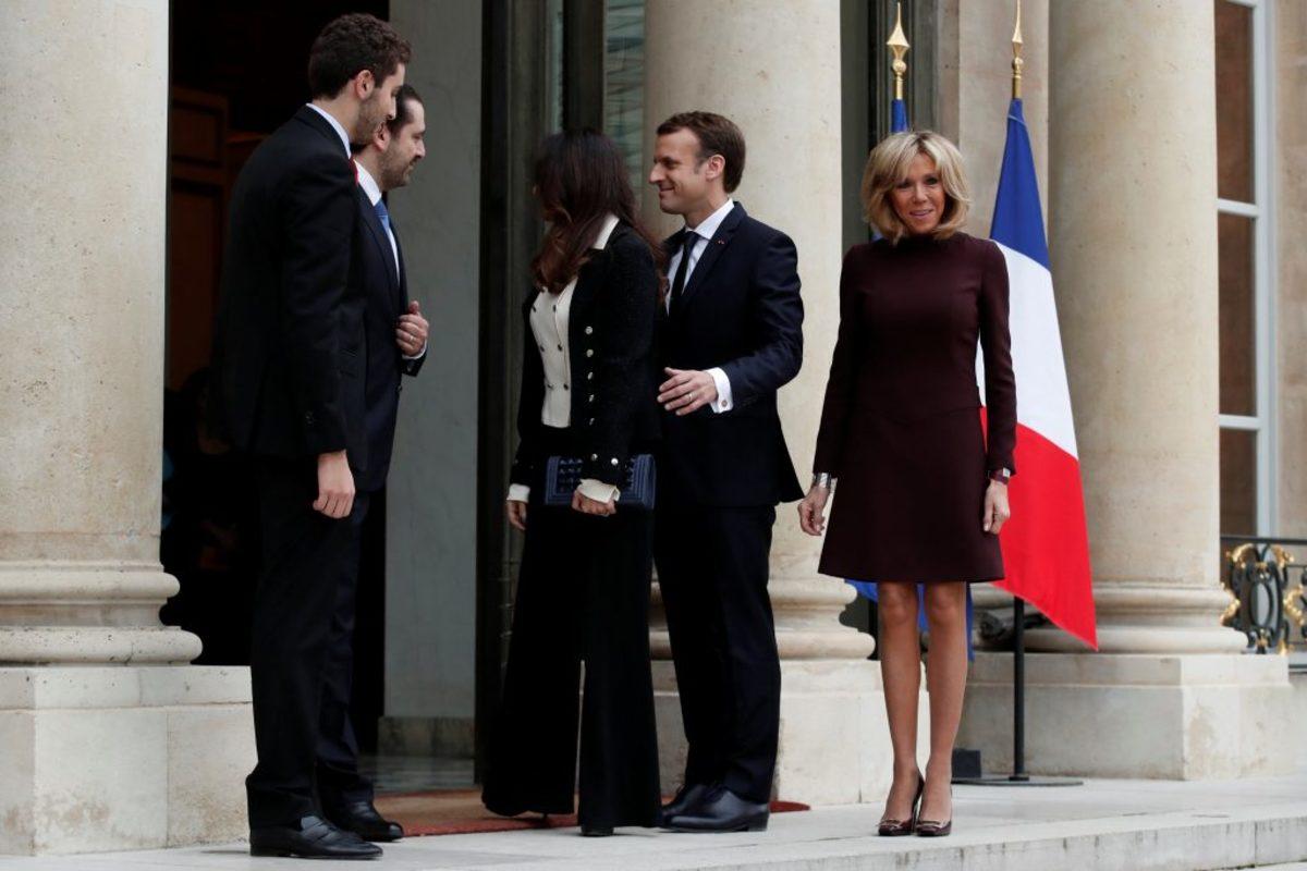 """Συναντήθηκαν Μακρόν - Χαρίρι! Το """"καυτό"""" μίνι της Μπριζίτ Τρονιέ κέρδισε τις εντυπώσεις [pics]"""