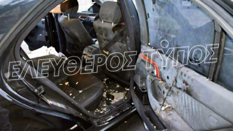 Λουκάς Παπαδήμος: Εικόνες σοκ από το αυτοκίνητο του αμέσως μετά από την έκρηξη του τρομοπακέτου