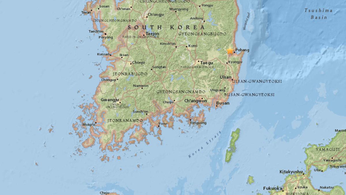 δίδυμοι σεισμοί στη Νότια Κορέα