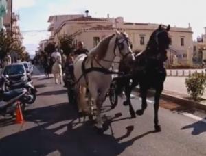 Άργος: Δωρέαν βόλτες με άμαξες και πανέμορφα άλογα που έβγαλαν τον κόσμο στους δρομους [vid]
