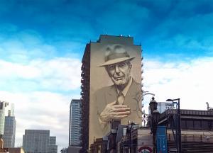 Τεράστια τοιχογραφία για έναν τεράστιο καλλιτέχνη – Το Μόντρεαλ τιμά τον Λέοναρντ Κοέν [pics]