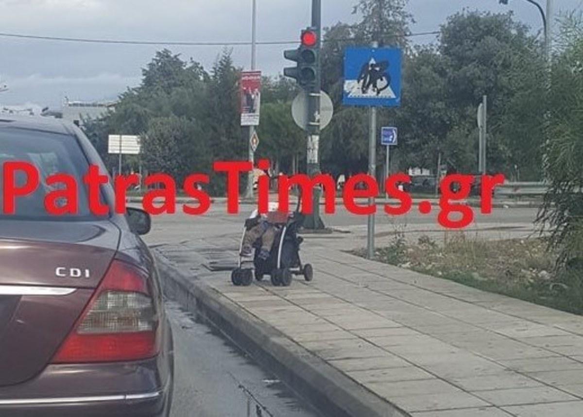 Ασύλληπτη εικόνα στην Πάτρα! Παράτησε το μωρό στο δρόμο και πήγε για καφέ!