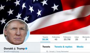 Έριξε τον λογαριασμό του Ντόναλντ Τραμπ στο twitter