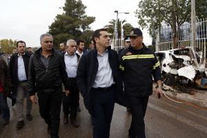 Στην Μάνδρα ο Τσίπρας – Ενημερώθηκε για την πορεία αντιμετώπισης της καταστροφής [pics]