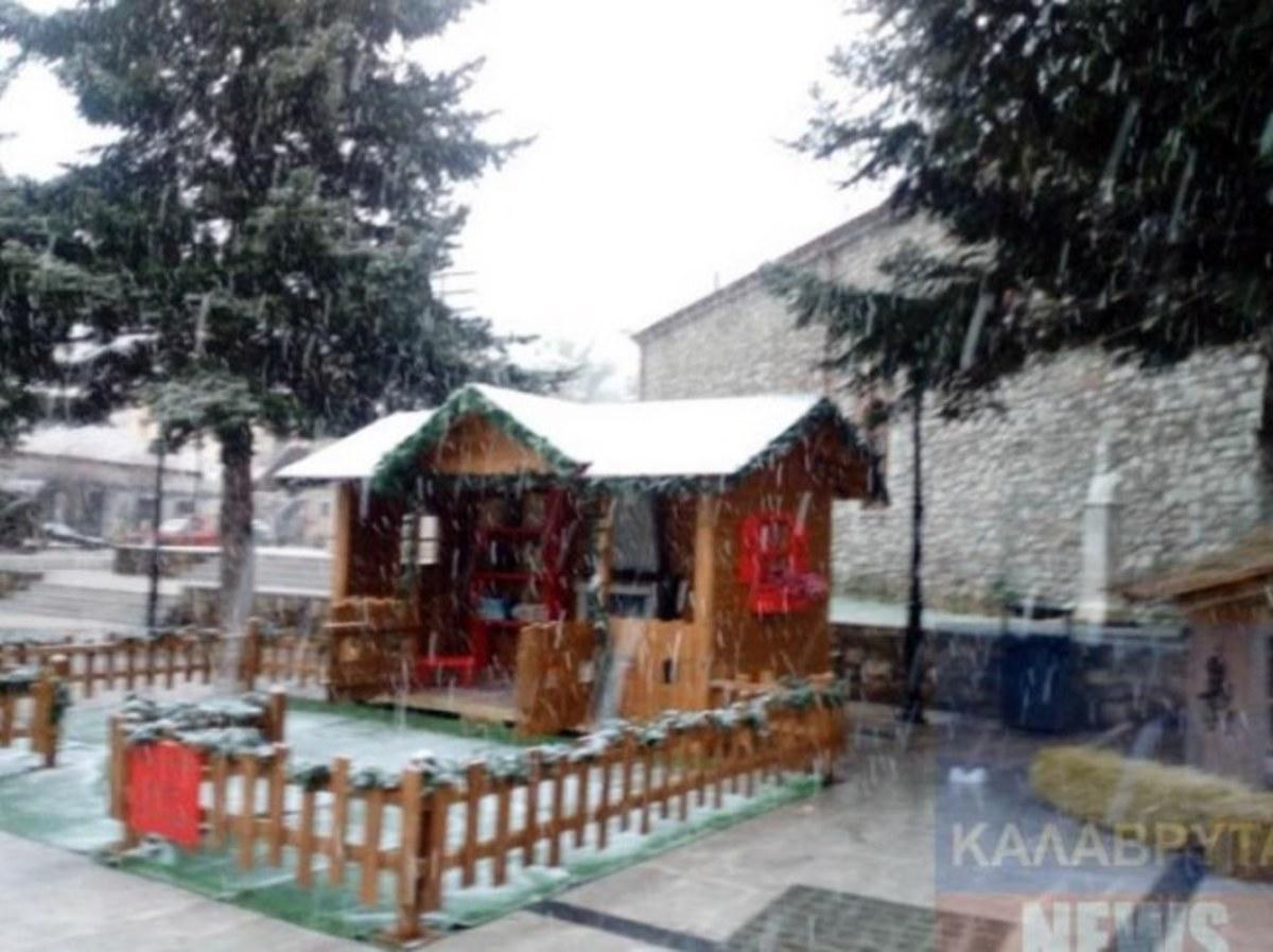 Αχαϊα: Σε ποιες περιοχές χιονίζει – Που χρειάζονται αντιολισθητικές αλυσίδες…