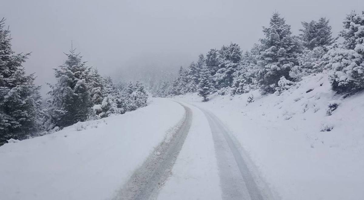 Με αλυσίδες η μετακίνηση στα ορεινά της Αιτωλοακαρνανίας [vid]