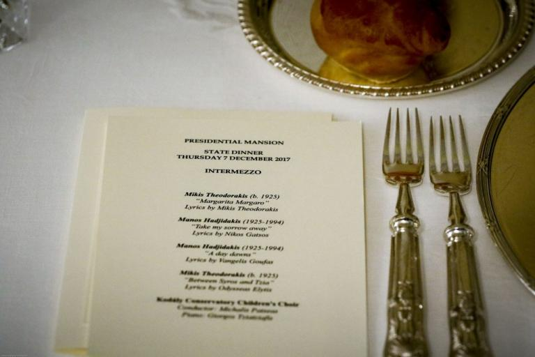 Επίσκεψη Ερντογάν στην Αθήνα: Το ιδιαίτερο μενού στο ιστορικό δείπνο