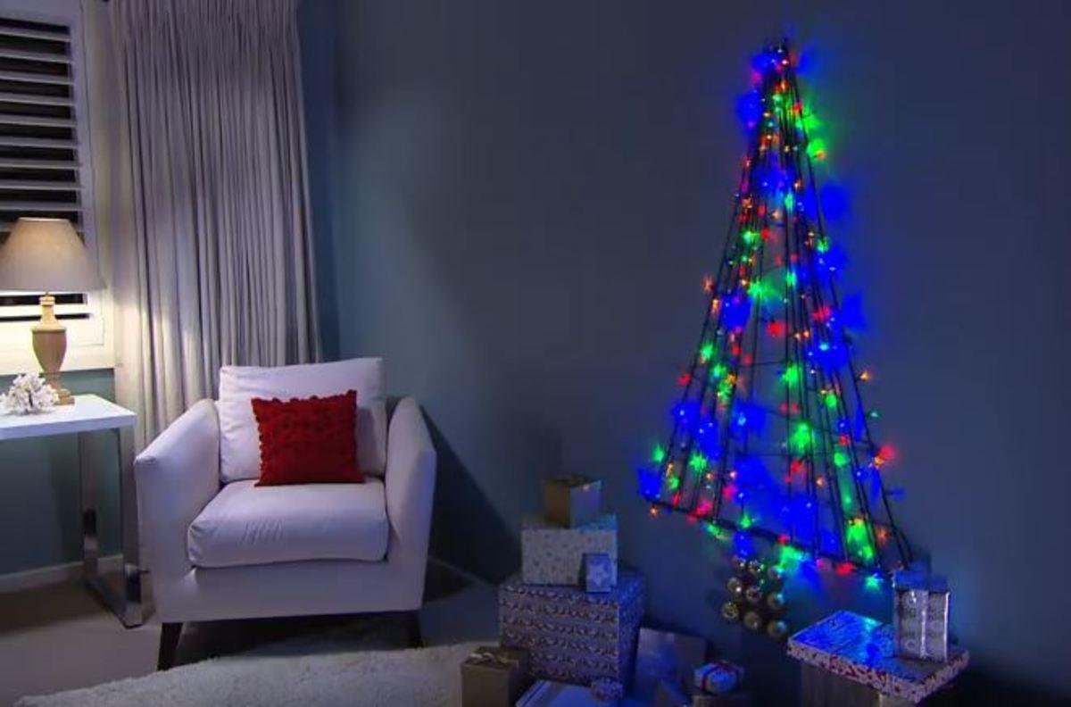 Πώς να φτιάξετε μόνοι σας ένα Χριστουγεννιάτικο δέντρο στον τοίχο