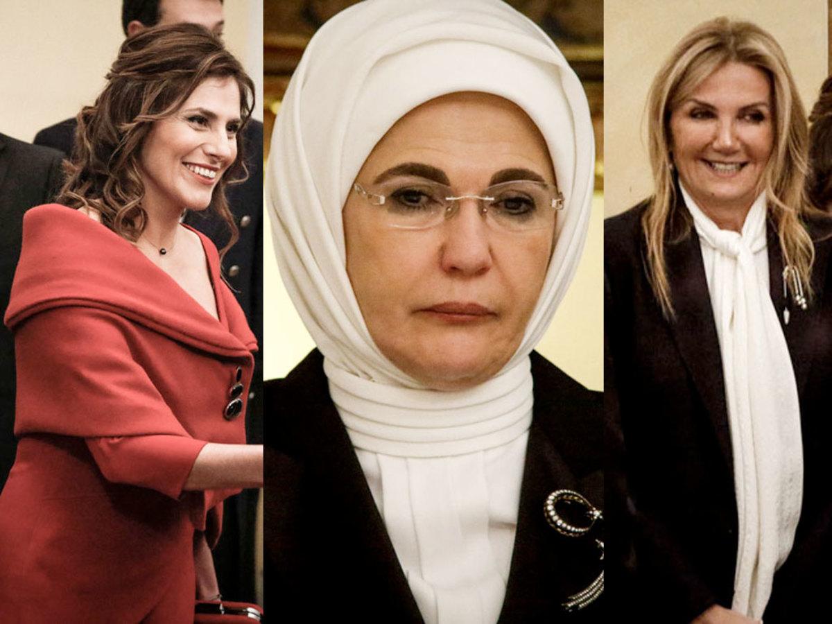 Μπέτυ Μπαζιάνα Εμινέ Ερντογάν Μαρέβα Μητσοτάκη