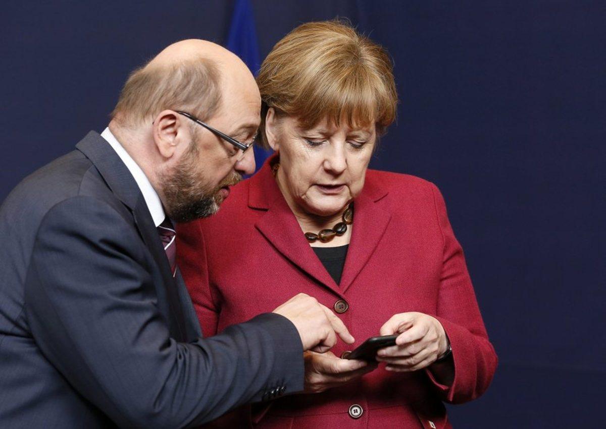 Μέρκελ Σουλτς Γερμανία δημοσκόπηση