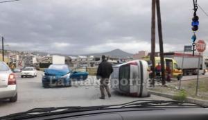 Λαμία: Στο νοσοκομείο 3 γυναίκες μετά από τροχαίο – Εικόνες από το σημείο της σύγκρουσης [pics]