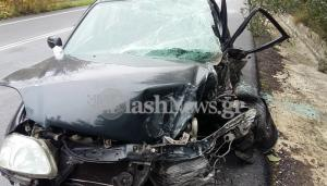 Χανιά: Σύγκρουση νταλίκας με αυτοκίνητο – Στο νοσοκομείο ο ένας οδηγός [pics, vid]