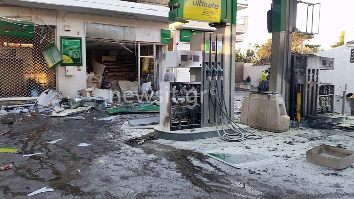 έκρηξη βενζινάδικο βόμβα